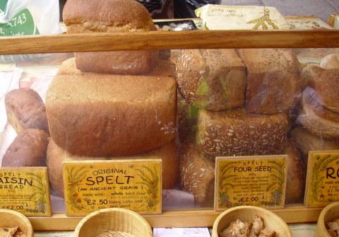 Spelt bread stall