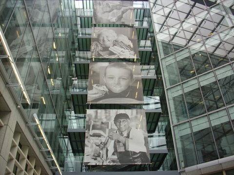 Atrium of corporate offices