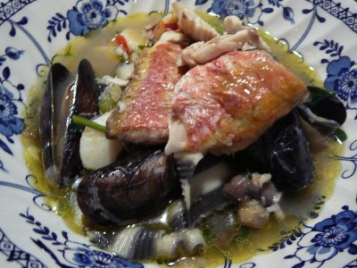 Fish soup with fish from Widemouth Bay