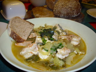 Soup with Fishworks fish