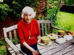 Sheila in garden