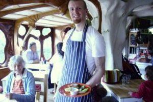 Paul Burton, chef, at St Werburgh\'s city farm cafe