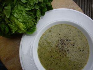 Lettuce soup