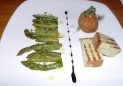 Robin Hood Retreat - asparagus from Wye Valley, scotch egg