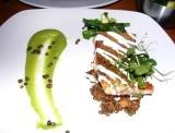 Robin Hood Retreat - pea puree, lentils (not pot) and sea trout