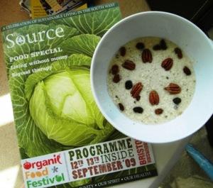 Hemp porridge and The Source (small)