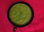 Wild garlic soup in a cup