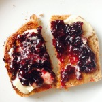 Toast with home made blackberry jam