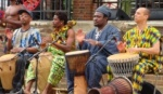 African drummers and drums