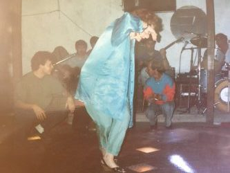 Fay Winkler dancing Greek dancing